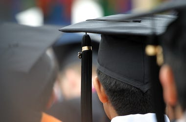 Black Graduation Caps, Ceremony, Students