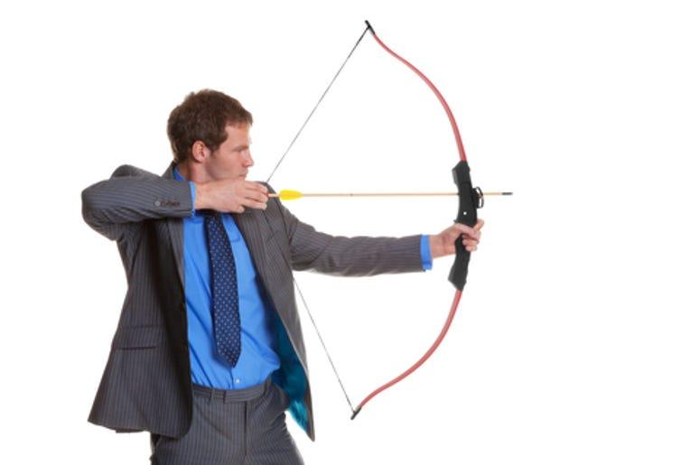 Man with a bow and arrow