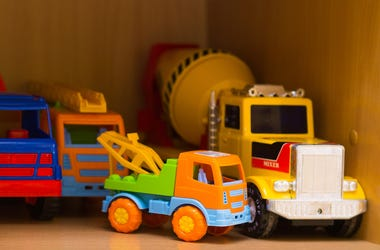 Toys, Kindergarten, Classroom, Shelf, Trucks