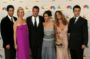 "The cast of ""Friends"" (left to right) David Schwimmer, Lisa Kudrow, Matthew Perry, Courteney Cox Arquette, Jennifer Aniston and Matt LeBlanc"
