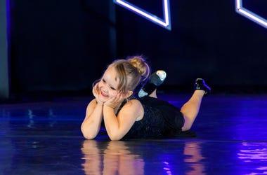 little girl tap dancing
