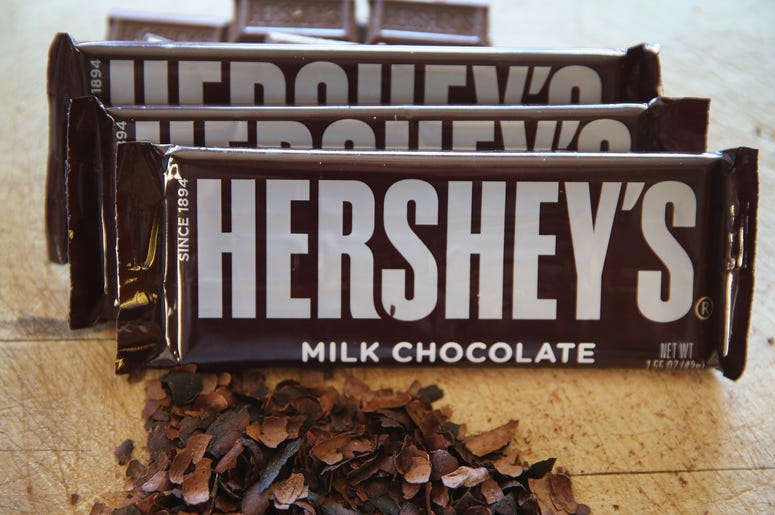 3 Hershey's milk chocolate bars