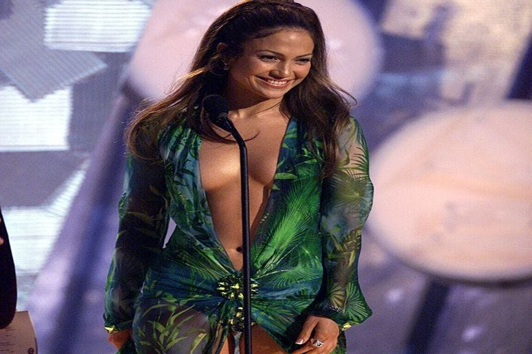 Jennifer Lopez at 42nd Annual Grammy Awards in 2000