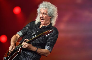 Lead guitarist Brian May of Queen