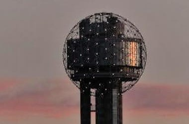 Reunion Tower at sunset