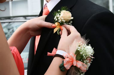 High School, Prom, Dance, Corsage, Boutonniere