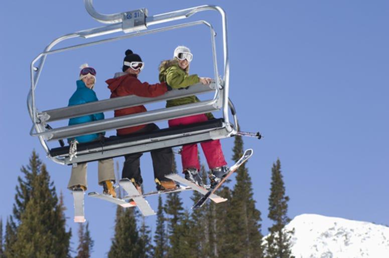 People Thrown Off Ski Chair