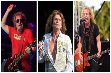 (Left) Sammy Hagar,(Center) Whitesnkae, Jack Blades of Night Ranger (Right)