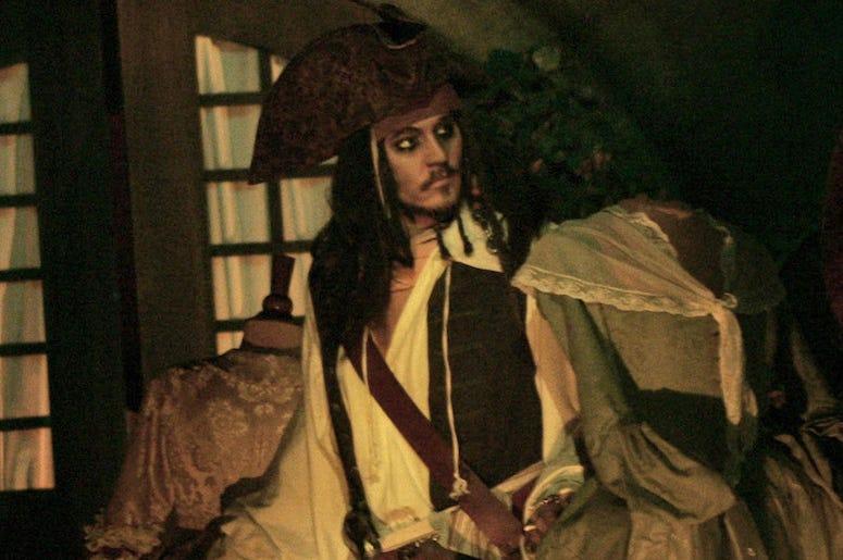 Johnny Depp, Animatronic, Jack Sparrow, Pirates Of The Caribbean, Ride