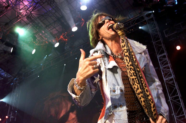 Steven Tyler, Aerosmith, Concert, Singing, Scarf
