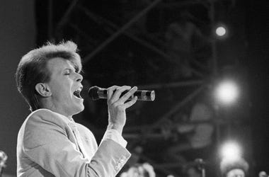 David Bowie, Concert, Singing, Black and White