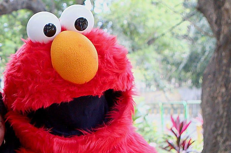 Elmo, Sesame Street, Costume, Smile