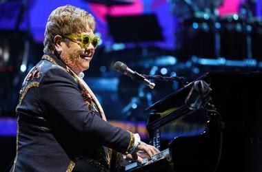 Sir Elton John performing