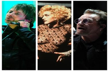 Thom Yorke of Radiohead,Madonna, U2's Bono