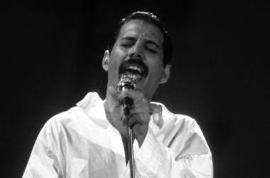 Queen front-man Freddie Mercury
