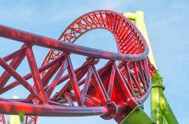Roller Coaster, Loop, Amusement Park, Blue Sky