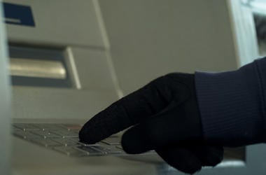 Man, Gloves, ATM, Cash, Pin Number, Keypad