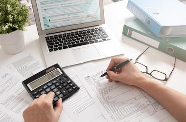 Taxes, Calculator, Form, Computer, Doing Taxes