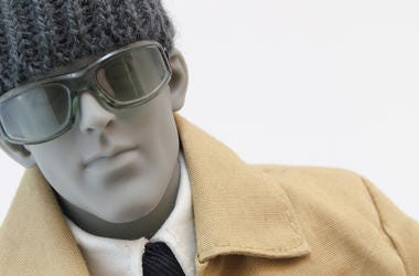 Mannequin, Dummy, Beanie, Hat, Sunglasses, Winter Jacket