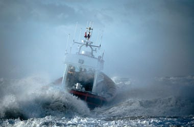 Coast Guard, Ship, Storm, Ocean
