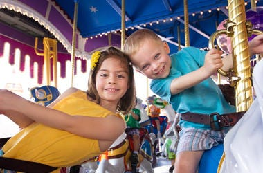 Kids at a theme Park