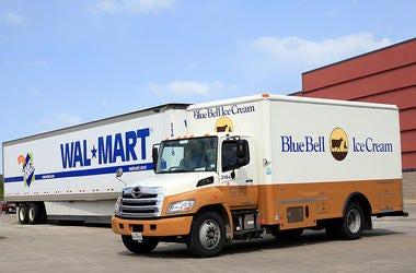 Blue Bell truck at Walmart