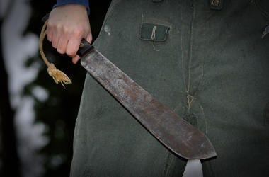 Person with a machete