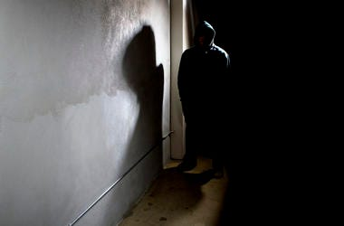 Man, Stalker, Dark Alley, Hiding, Shadows, Hoodie
