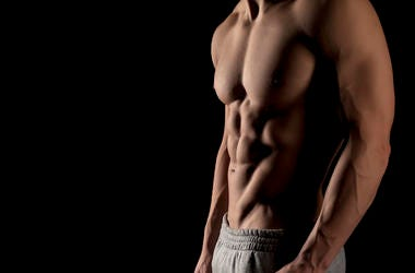 Male Muscular, Abs, Six Pack, Muscles, Black Background