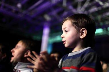 Kid at a concert