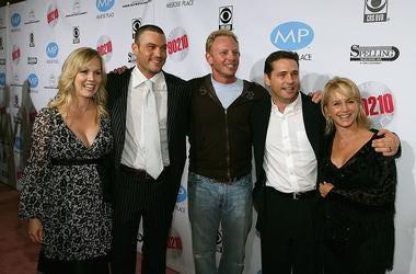 Jennie Garth, Brian Austin Green, Ian Ziering, Jason Priestley and Gabrielle Carteris