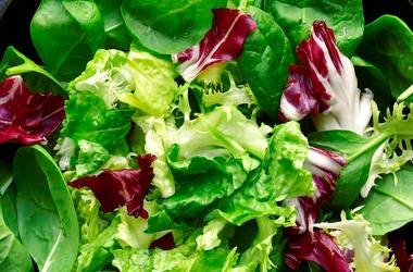 Vegetables, Lettuce, Salad, Close Up
