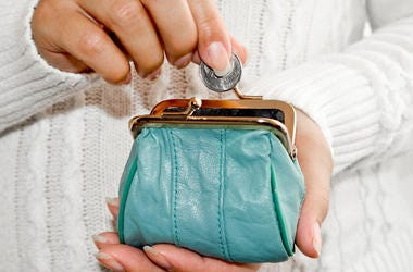 Woman, Coin Purse, Quarter, Leather Purse, Wallet