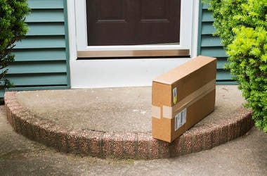 Package, Porch, Doorstep, Cardboard Box, Delivery, Front Door