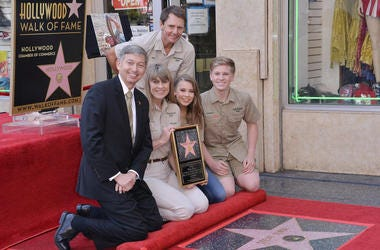 Crocodile Hunter's Star On The Hollywood Walk Of Fame