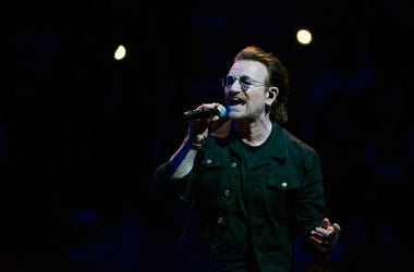 Bono, U2, Concert, Singing, Wells Fargo Center, 2018