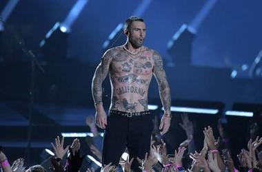 Adam Levine, Shirtless, Super Bowl LII, Halftime Show, Nipples