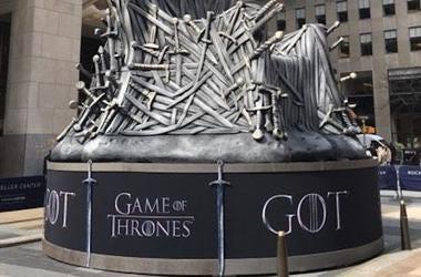 Game of Thrones, Logo, Iron Throne, Replica, Rockefeller Center