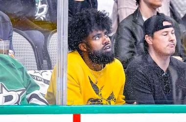Ezekiel Elliott, Dallas Stars, Playoff Game, Front Row, St. Louis Blues, 2019