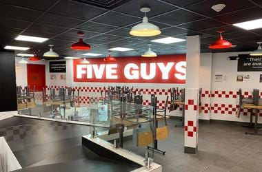 Five Guys Burger & Fries, Interior, Mezzanine