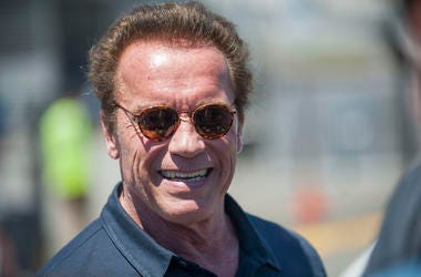 Arnold Schwarzenegger, Smile, Sunglasses, Outdoors, Sonoma Raceway, 2015