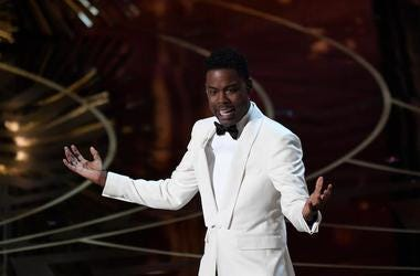 Chris Rock, Speaking, Stage, 88th Academy Awards, White Tuxedo, 2016