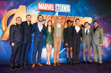 Cast of Avengers Infinity War at the London premier