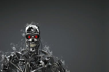 Terminator, Robot, Black, Animated