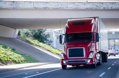 Truck, Big Rig, Road, Driving, Bridge, Highway