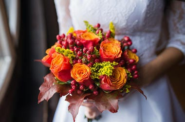 Bride, Wedding, Bouquet, Flowers