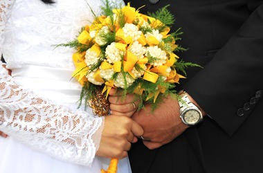 Wedding, Bride, Groom, Bouquet