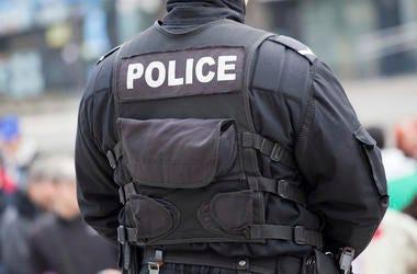 Police Officer, Uniform, Back, Detail, Street