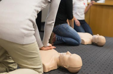 CPR, Class, Dummy, Chest Compression