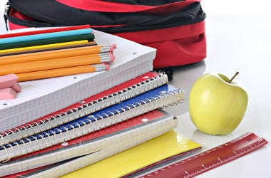 School Supplies, Notebooks, Backpack, Pencils